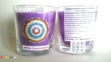 SvSF1- chakra candle, levander